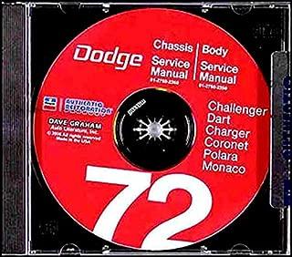 1972 Dodge Challenger Dart Coronet Shop Service Repair Manual CD Engine Body OEM
