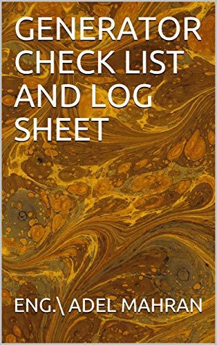 DIESEL GENERATOR CHECK LIST AND LOG SHEET (English Edition)