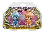 Glimmies - GLN015 - 2 Rainbow Friends 6 Cm - Modèles Wolfélie/ Linxia