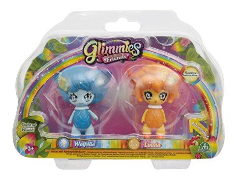 Giochi Preziosi Glimmies Rainbow Friends Blister Doppio, Wolfélie e Linxia, GLN01510