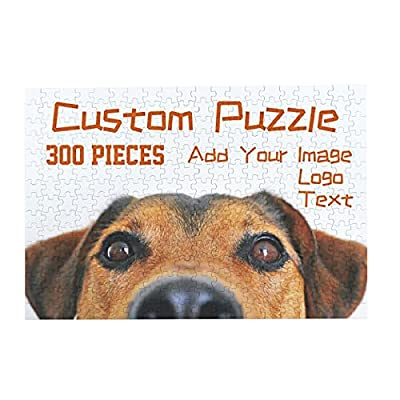Amazon - Save 40%: H-Puzzle 300 Pieces Custom Jigsaw Puzzles Customized Personalized…