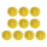 SUPVOX 30pcs Simulazione fette di Limone Simulazione fette di Frutta Fetta di Limone Artif...