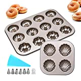 HomeMall Donut-Formen Backform, Donutform, Antihaftbeschichtet Donut Backform für Donut, Kekse, Bagels, Muffins(3Pcs)
