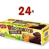 Lotus Dinosaurus Chocolat 24 x 225g Packung (Dinosaurierkekse auf dunkler Schokoladenschicht)
