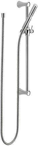 new arrival Delta Faucet 57085 online sale Trinsic Contemporary online Slide Bar Handshower,Chrome,0.5 online