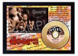 SGH SERVICES New! The Doors Light My Fire Music Mini Disco de Vinilo Dorado Firmado en CD
