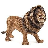 大型動物のおもちゃ、虎、ライオン、シマウマ、サイ、ヒョウのモデル、動物のおもちゃのモデル、プラスチックの動物の世界、動物のモデル、子供のおもちゃ、ギフトの装飾 (ライオン)