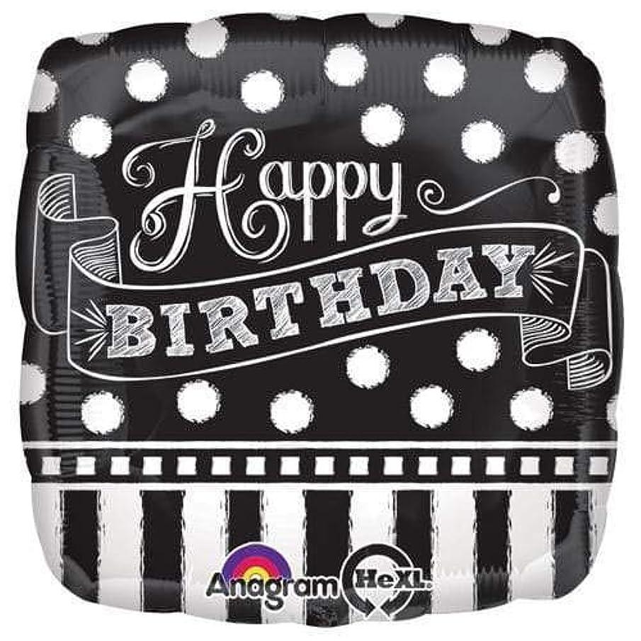 Anagram 30927 Black & White Chalkboard Birthday Foil Balloon, 18