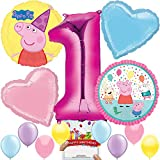 Peppa Pig Party Supplies Balloon Decoration Bundle for 1st Birthday