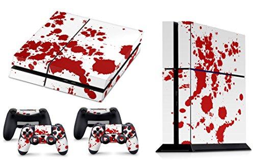 Skins4u® Playstation 4 PS4 Skin Design Folie Aufkleber Vinyl Sticker Set + 2 PS4 Controller Skins - Blood