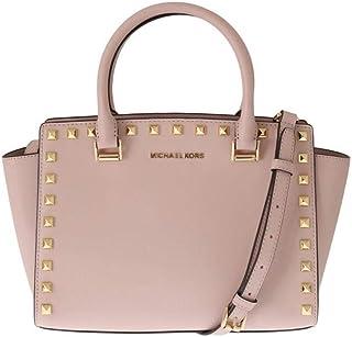 db8e5d86e2ecff Michael Kors Selma Stud Medium Top Zip Saffiano Leather Satchel Handbag
