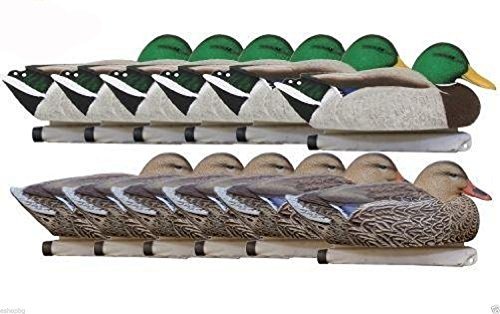Hard Core Brands 01-200-0001 Economy Series Mallard Floater Decoys, 12 Piece