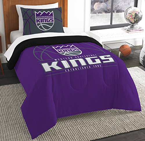 The Northwest Company Officially Licensed NBA Sacramento Kings Reverse Slam Twin Comforter and Sham