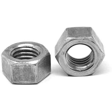 5//8-11 Thread Size Small Parts FSC58LHN5 Left-Hand Threaded Grade 5 Steel Hex Nut Pack of 10