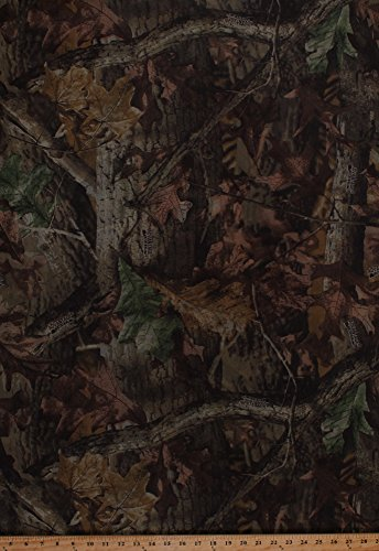 68' Camouflage No-See-um Mosquito Netting Marquisette Weave Advantage Timber Camo Leaves Bark Netting Fabric by The Yard (A509.08)