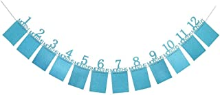 12pcs/set 12 Months Photo Banner Baby Girl Boy First Birthday Party Decorations Baby Photo Frame Party Home Decor
