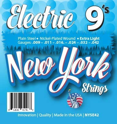 Raleigh Mall New York Superlatite Strings NYSE42 Electric Ex - Plain Guitar Steel