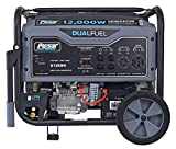 Pulsar G12KBN-SG Heavy Duty Portable Dual Fuel Generator - 9500 Rated Watts & 12000 Peak Watts - Gas & LPG - Electric Start - Transfer Switch & RV Ready - CARB Compliant