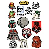 15Pcs Star Wars Military Morale Embroidered Patch for Jackets Backpacks Jeans and Clothes Iron On Sew On Appliques Sport Badge Emblem Sign DIY Accessory
