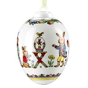"""Hutschenreuther 02254-723930-27957 Porzellan-Ei 2015 """"Osterhase"""" 6,5 cm im Geschenkkarton"""