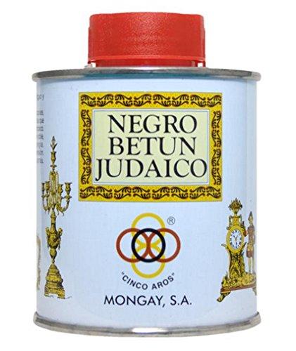 NEGRO BETÚN JUDAICO, 1/2L, CINCO AROS, MONGAY