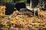 Fiskars Großer PopUp-Gartensack mit Griffen, Platzsparend faltbar, Fassungsvermögen: 219 L, Höhe: 70 cm, Breite: 56 cm, Schwarz/Orange, Ergo, 1028373 - 8
