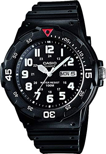 Casio Collection Herren-Armbanduhr MRW 200H 1BVEF, schwarz/Rot