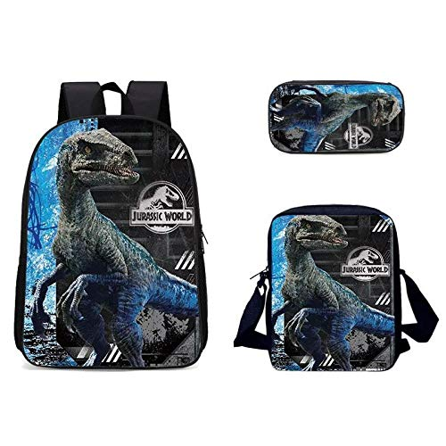 Fashionable 3D Tiger Animal Pattern School Bag Breathable Travel Outdoor Three-Piece Multifunctional Bag-3D-14_Three-Piece Suit