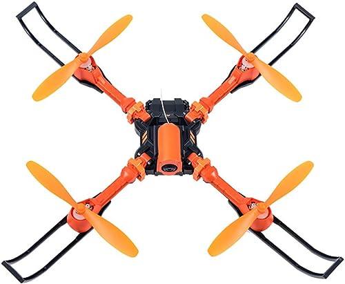 YRE Mini-Prise de Vue aérienne Pliable 6 Axes Gyroscope UAV, voiturete WiFi Transmission de voituretes à Distance pour Enfant, Enfants, Cadeaux pour Adultes,Orange