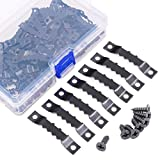 Swpeet 120 Pcs Sawtooth Picture Frame Hanging Hangers Double Hole with Screws, for Home Decoration Creative...