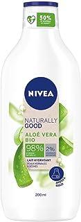 NIVEA NATURALLY GOOD Lait corps hydratant Aloe Vera (1 x 200 ml), lait hydratant avec 98 % d'ingrédients d'origine naturel...