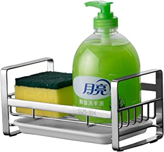 KAILEYOUXIANGONGSI Kitchen Sponge Holder - Kitchen Sink Organizer - Sink Caddy - Sink Tray - Soap Holder - SUS304 Stainles...