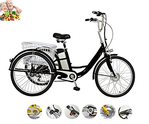 Triciclo eléctrico para Adultos, Triciclo asistido por energía, Mano de Obra, Marco...