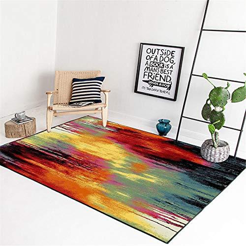 WQ-BBB Super Suave jarapas Colorido Estilo Abstracto alfombras salón Degradado Negro Rojo Azul Amarillo Super Lujoso higroscópico Dormitorios Alfombras 100X160cm