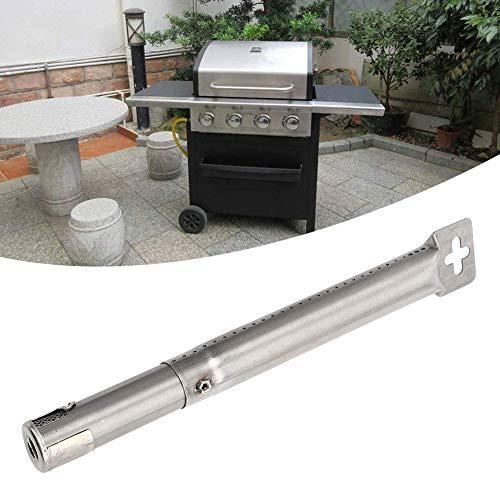 Nivvity BBQ rörbrännare, 4 st justerbara teleskopiska rostfria rör rör rör brännare BBQ grilldelar ersättning