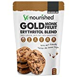GOLD - Brown Sugar Alternative Substitute 1:1 Sugar Replacement - Monk Fruit Erythritol Sweetener for Low Carb Dieters and Diabetics - No Calorie Sweetener, Non-GMO (1 Pound)
