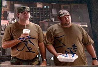 Larry Cable Guy & Bill Engvall Signed Delta Farce Photo