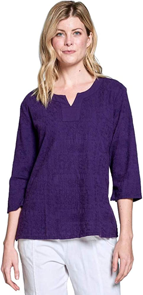 Focus Fashion Voile Embroidery Tunic-C630