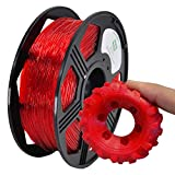 YOYI 3D Printer Filament,TPU Flexible Filament 1.75mm 0.8kg Spool Dimensional Accuracy +/- 0.03 mm,100% Europe Raw Material (Red)