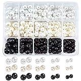NBEADS 330 botones de bola, botones de perlas de imitación de 1 agujero, botones de resina de colores mezclados para manualidades, ropa, trajes de abrigos, vestidos de novia y proyectos de bricolaje