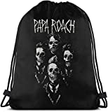 [page_title]-Papa Roach Drawstring Backpack Wandertasche LightweightGym Backpack,