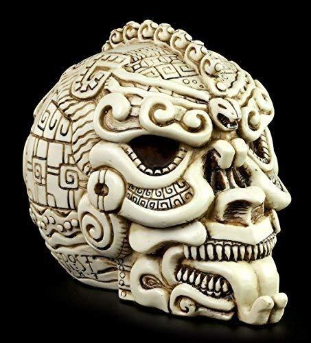 Derek W Frost Totenkopf - Azteken Schädel weiß - Figur Totenschädel Maya