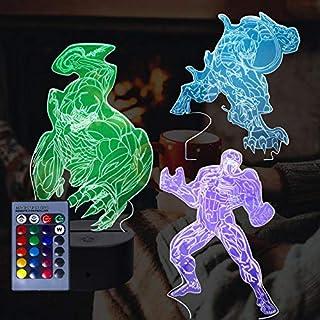 Luz de la noche del dragón 3D, lámpara de ilusión 3D (venom)