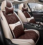 Car Seat cover set, cómodo piezas de automóvil, llenado de alforfón, transpirable y resistente al desgaste, conveniente para todas las estaciones,A