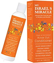 Clean & Connected Rinse Out Conditioner - Herbal Hair Conditioner – Argan Oil Conditioner with Powerful Organic Hair Care Herbs from Israel (8 Ounce)