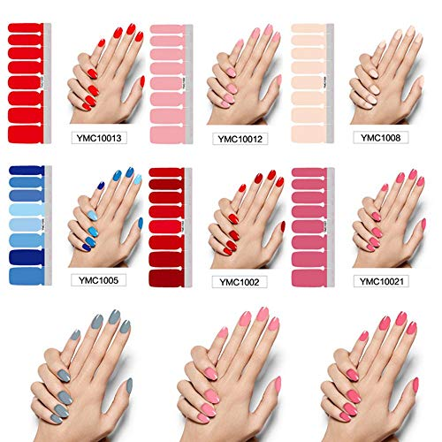 Nagel Sticker,22 Blatt/Farben Beauty Nail Art Sticker, Nagellack volle Aufkleber, Schwangere Frauen erhältlich Solid Color Nails 22 Stück
