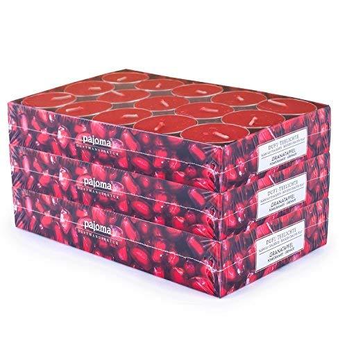 pajoma 90 Duft Teelichter 3x30 Stück Duftkerzen viele Düfte wählbar (Granatapfel)