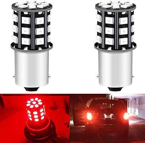 AMAZENAR Paquet de 2 1156 BA15S 1141 1073 7506 1003 Ampoules de Frein de Voiture - 12V-24V Red 2835 Ampoule de 33 LED SMD - Remplacement des Ampoules de Stationnement Ampoules de Stationnement