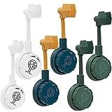 360 Punch-Free Universal Adjustable Shower Bracket,Upgrade Removable Shower Head Wall Mount Holder (White)