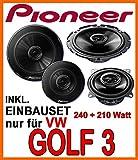 Lautsprecher - Lautsprecherset Pioneer - Front für VW Golf 3 - JUST SOUND best choice for caraudio